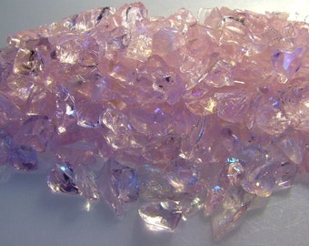 Pink Glass Transparent Chips Recycled 1/2 pound C102