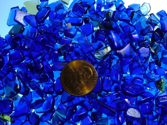 Bottle Glass Chips Kiln Fused, Mosaic size 500 Pieces (B107)