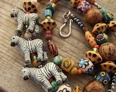Parade of Zebras Safari Necklace