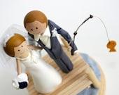 Cake Topper- Handmade Keepsake Wedding Topper- custom made wood bride and groom with scene