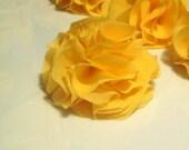 Lemon Yellow Chiffon Flower Clip, 2 inch Handmade