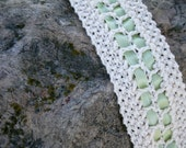 Moss and Ribbons - Knitted Lace