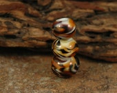 Tiger Stripes Handmade Lampwork Bead Set