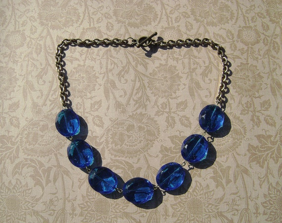 Cathedral blue necklace
