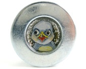 BABY EAGLE hand painted bottle cap magnet