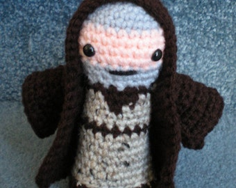 Made to order, Hand crocheted Star Wars Obi Wan Kenobi Amigurumi Doll