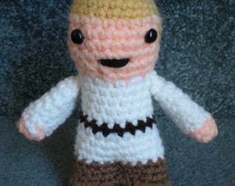 Made to order, Hand crocheted Star Wars Luke Skywalker Amigurumi Doll