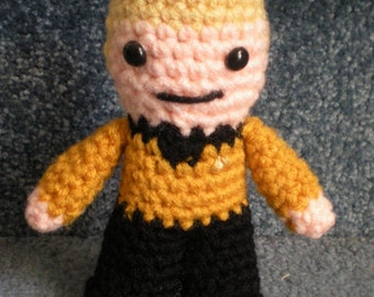 Made to order, Hand crocheted Captain Kirk Star Trek  Amigurumi Doll