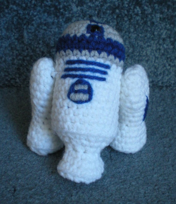 Made to order, Hand crocheted Star Wars R2-D2 unit Amigurumi Doll -You choose the colors
