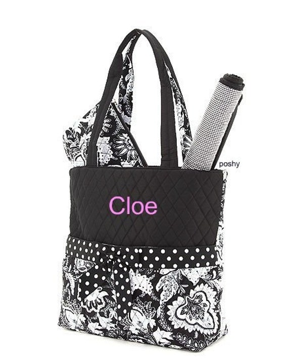 Personalized Baby  Diaper Bags in Black  3PIECE   New pattern