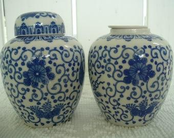 Antique Ginger Jars Set of 2