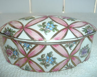 Andrea by Sadek  Decorative Oval Trinket Box