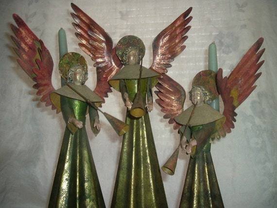 Tin Angel Candle Holders Free Shipping to USA
