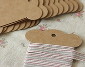 Kraft Paperboard Winding Card/thread card/Vintage spool