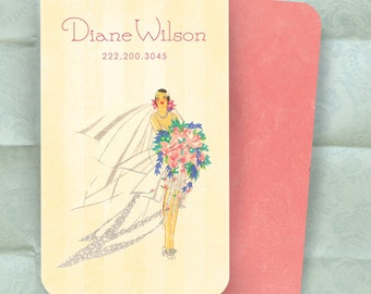 Bride Theme Calling Card - Personal Card Or Business Card - Wedding Planner Florist Seamstress / 100 Cards