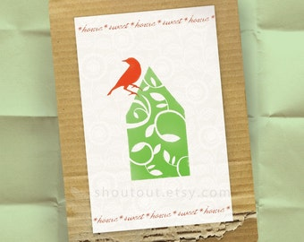100 Custom Moving Announcements - Home Sweet Home Postcard