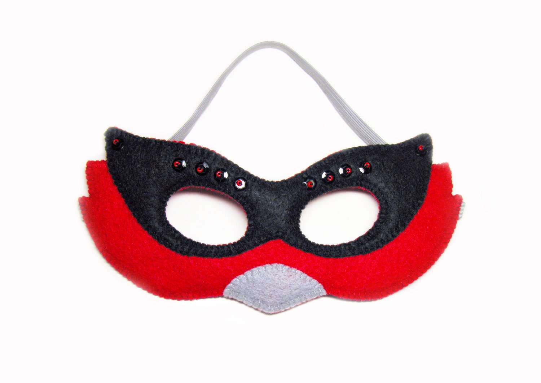 Bird Halloween Mask Red Black Childrens Animal Costume Boys