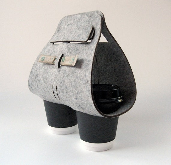 "Objectify ""Tota"" Coffee Cup Carrier"