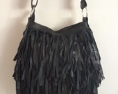 Fringe leather handbag messenger bag shoulder bag crossbody bag boho