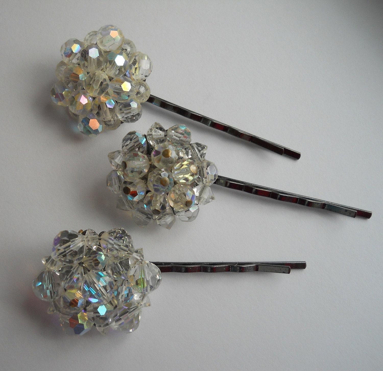 bobby pins repurposed earring bridal wedding hair