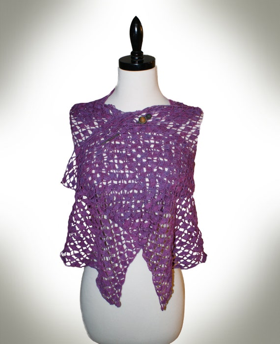 Crochet Pattern-- Portola Lace Shawl --Crochet Pattern