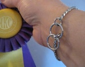 Dog Show Collar Silver Snake Chain Bracelet