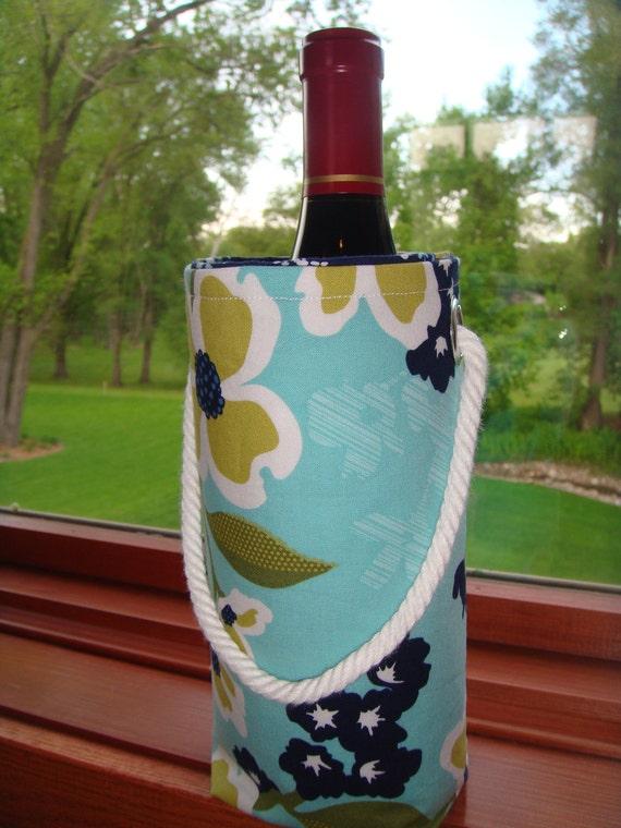 Modern Meadow Reusable Wine Gift Bag