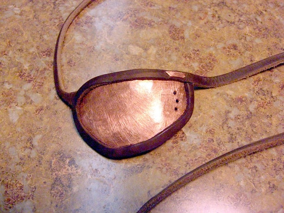 Sweet METAL & Leather Eye Patches, Custom made to order, left or right