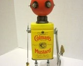Chef Colman Bot - found object robot sculpture assemblage