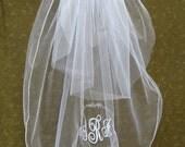 Embroider wedding veil