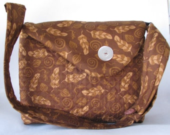 ON Sale   ON Sale    Brown tan leaf purse with adjustable strap