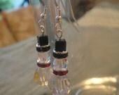 Swarovski Crystal Snowmen earrings