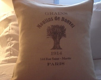 Grains Moulins de Bouvet French grainsack/feedsack pillow