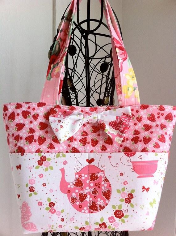 Sweet Lolita, Kawaii Bag, Lolita Bag, Pink Strawberry Bag by Tomodachi Kitty (Ready to Ship) SALE SALE SALE