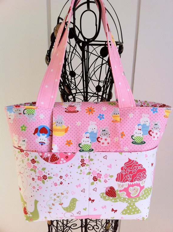 Sweet Lolita, Kawaii Bag, Lolita Bag, Pink Strawberry Bag by Tomodachi Kitty (Ready to Ship) SALE SALE SALE