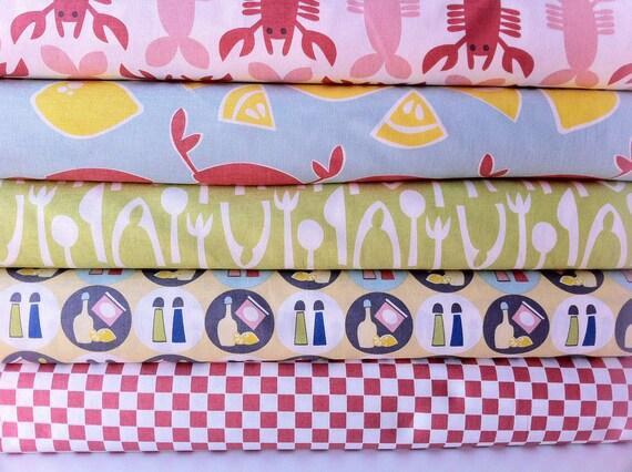 Crabtastic Fabric bundle by Maude Asbury for Blend Fabrics  (5 half yard bundle) SALE