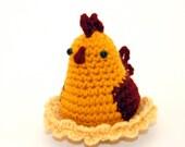 Crochet Pattern: Amigurumi Chicken, Mrs. Chickle