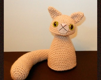 Crochet Pattern: Amigurumi Cat, Gritty Kitty