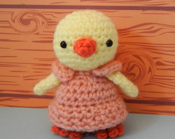 Crochet Pattern: Amigurumi Chick, Little Miss Hattie