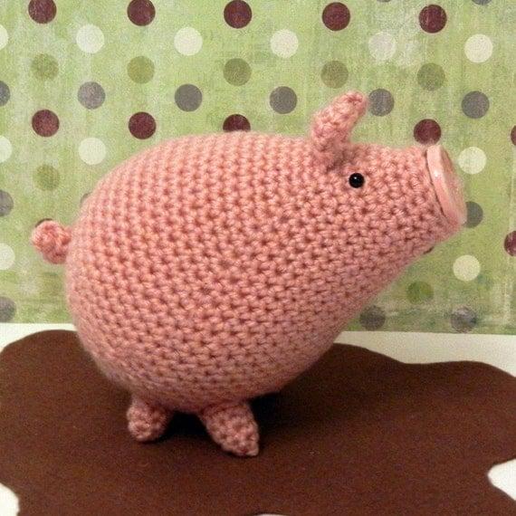 Amigurumi To Go Crochet Along Pig : Crochet Pattern Amigurumi Pig Piggins by Yarnington on Etsy