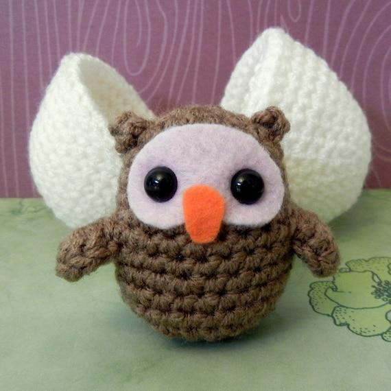 Crochet Pattern: Amigurumi Egg Babies Owl Chick and Egg