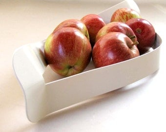 SALE Black White Metal Fruit Bowl