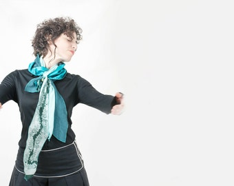Women Turquoise Scarf