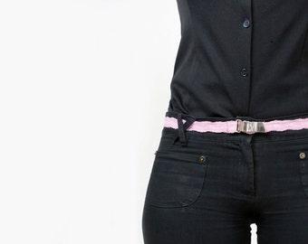 Women Pink  Lace Elastic Belt