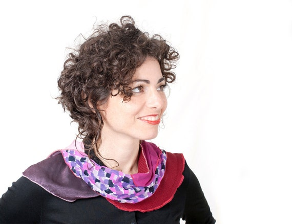 Red Pink Scarf Women Eco Friendly