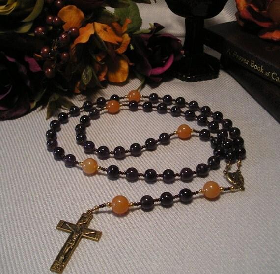 Catholic Rosary Amethyst and Aventurine