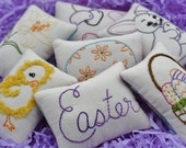 Easter Decorative Pillows - Easter Bunny Bowl Fillers - Easter Egg Tucks - Easter Basket - Easter Lily - Jelly Beans - Chick - Plaid