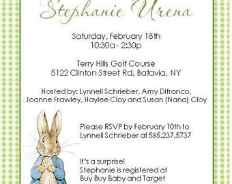 Peter Rabbit Invitations