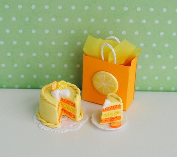 Miniature Lemon Orange Cake by LittleThingsByAnna on Etsy