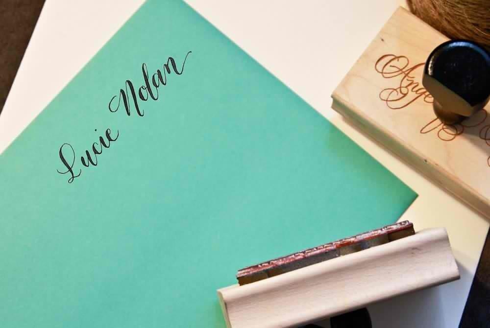 Custom handwritten calligraphy name stamp personalized